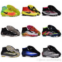 Wholesale High Tops Football Boots Magista Obra FG Soccer Boots Mens Soccer Cleats Mercurial Superfly CR7 Soccer Shoes Neymar Hypervenom Phantom JR