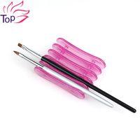 art storage rack - Grids Nails Art Penholder Brush Rack Accessory Carving Pattern UV Gel Crystal Pen Carrier Storage Salon Nail Art Tools JH310
