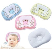 baby head support pillow - 1 Newborn Infant Support Print Bear Head Shape Baby Shaping Pillow Bear Pattern Pillow Newborn Infant Baby Support Cushion Pad Hot Sell