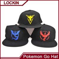Wholesale Adult Poke Go Baseball Caps Fashion Poke Hats Casual Pikachu Caps Adjustable Poke Ball Snapbacks Hats Pocket Monster Poke Hats Hot
