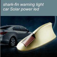 Wholesale 10pcs Auto supplies Car solar flashing lights Shark fin anti collision LED warning light Car dome light car Antenna
