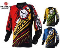 Wholesale 2016 New style SCOYCO Motorcycles Competitive XC T Shirt Professional racing suits Wicking breathable Jersey T200 Red Blue Green color