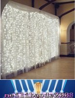 ac concerts - 2016 X3meter LEDs Curtain Lights UL Rosh CE Approval Pure Copper Wire String Fairy Sparkle Lights Wedding Party Concert Decoration MYY19