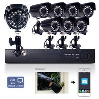 Wholesale Waterproof CH H H DVR TVL CMOS IR Leds mm Len CCTV Outdoor Security Bullet Camera System playback backup