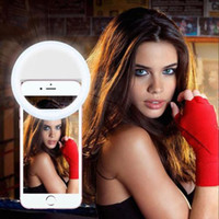 Wholesale Newest Rechargeable LED selfie ring light Flash spotlight circle round fill light lamplight speedlite for iphone universal