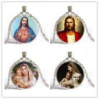 baby jesus christ - Mini order pc Virgin Mary Mother of Baby Neckalce Jesus Christ Christian Jewelry Glass Photo Necklace