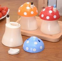 Wholesale 3PCS SET Plastic Lovely Mushroom Automatically Toothpick Box Holder dispenser Box Creative gift toothpicks cans home decoration
