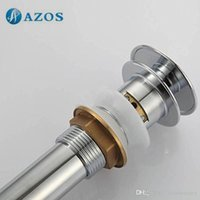 Wholesale Bathroom Sink Drainer Brass Push Dwon Pop up Chrome Polished Overflow Hole Basin Parts Faucet Accessories PJXSQ001C Y