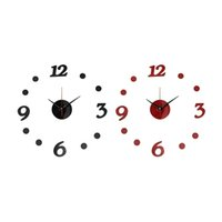 Wholesale Beautiful Design New DIY Acrylic Mirror Modern Wall Clock Stickers Art Home Decals Decoration Excellent Quality