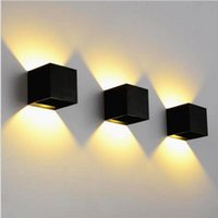 adjustable wall lamp - Dimmable COB W W IP65 Adjustable Surface Mounted Outdoor Cube Led Wall Lamp Led Outdoor Wall Lamp Up and Down Wall Lamp Indoor Wall Light