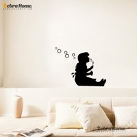 Vinyl banksy wallpaper - Girl Sitting Blowing Bubble Wall Stickers Banksy Design Decals Wallpaper Vinyl Art Removable Kids Room Home Decoration