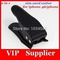 Wholesale 100pcs Dual in Micro Sim Cutter for iPhone s Nano SIM Card Adapter for Samsung Galaxy Regular Sim
