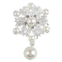 Wholesale Vestido De Noiva Summer Style Brooches Peals Alloy Pin Up New Fashion Simulated Pearl All Match Jewelry QJ