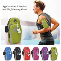 Wholesale 5 inch Running Jogging GYM Protective Phone Bag Sports Wrist Bag Arm Bag Outdoor Waterproof Nylon Hand Bag For Camping Hiking lt no tra