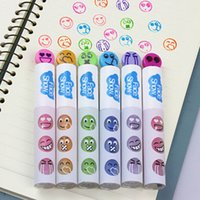 Wholesale Creative Expression Stamp Seal Pen Watercolor Marker Pens Cute Stationery Kid Prize Gifts