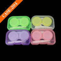 Wholesale Eyeglasses Case Cute Mini Contact Lens Easy Carry Case Travel Kit Plastic Contact Lens Storage Soaking Cases L R Marked