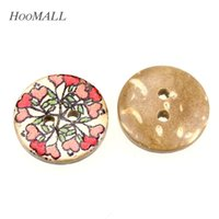 Wholesale Coconut Heart Buttons - Hoomall 100PCs Heart Flower 2Holes Coconut Shell Sewing Buttons 15mm Dia Craft And Scrapbooking