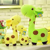 Gros-7''18cm mignon girafe en peluche Peluche animal cerf Doll Poupées colorées pour bébé Enfants Haute Qualité