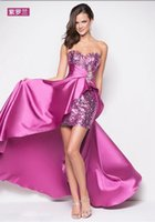 Wholesale Sparkly Rose Gold Cheap Mermaid Bridesmaid Dresses Short Sleeve Sequins Backless Long Beach Wedding Party Gowns Gold Champagne prom