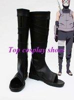 anbu black ops - Freeshipping anime Naruto Cosplay Black Ops Member anbu Kakashi Cosplay Boots shoes Ninja custom made for Halloween Christmas