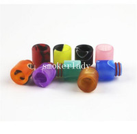 Wholesale NEW Colorful Acrylic Drip Tips For E Cigs Mouthpiece Drip Tip mm Fit ce4 ce5 EGO Atomizers Tank ecigs E Cigarette