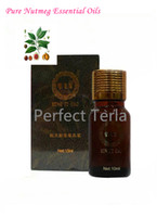 anti constipation - 100 Nutmeg Aromatic Pure Herbal Essential Oil Prevent Constipation Halitosis Natural Aromatherapy Body Beauty SPA Massage Oils10ML
