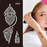 Wholesale DIY Painted Tattoos Printing Template Tool Stencils For Henna Temporary Tattoo Disposable DIY tatoo template stencil