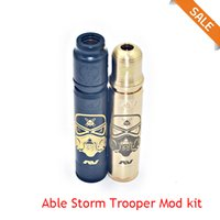 Mods av España-AV Able Storm Trooper Mod Kit Material Mecánico Mod Clone AV Estilo E-Cigarette fit 18650 batería VS kennedy 24 kit