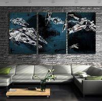 art ink print - 2016 Wall Art HD Print on Canvas Star Wars Battleship Millennium Falcon NO FRAMED