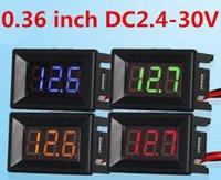 Оптово-Высокое качество 0,36 дюйма DC2.4-30V автомобиля красный зеленый желтый цифровой ЖК-дисплей Мотоцикл вольтметр панель напряжения Датчик Вольтметр