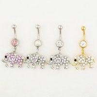 bell elephant - 0544 MIX colors styl belly ring style newly nice elephant style Rings Body Piercing Jewelry Dangle Accessories Fashion Charm