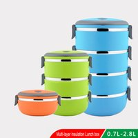 Wholesale Non magnetic stainless steel heat preservation box fast plastic lunch box