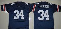 auburn blue - 34 Bo Jackson Jeremy Johnson DYER SULLIVAN Philip Lutzenkirchen Nick Marshall Auburn Tigers College Football Jerseys