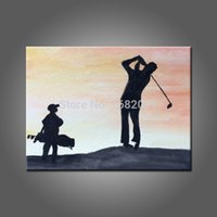 best golf pictures - The Man Favorite Outdoor Sport Golf Oil Painting On Canvas Hand Painted Best Living Room Wall Artwork By Professional Painter