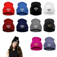 beanie hat manufacturers - Manufacturers selling foreign trade hot style masonry diamond hip hop dance knitting wool hat fashion trends
