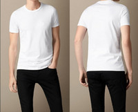 Wholesale New Arrival London Designer Summer Men Short Sleeve Solit T shirts Top Quality With Logo on Bust Cotton Men Tees Tops BT1410 S XXL