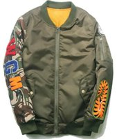 Stand Collar air patterns - 2016 camouflage Shark Pattern Japanese Winter Air Force Flight Jacket Pilot Youth Casual Bomber Coat Ma1 Thick Stand Zippers