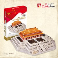 Wholesale CubicFun D Stereo Jigsaw Puzzle Toys quot The Hall of Supreme Harmony in The Forbidden City Beijing quot for kids and adult