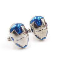 Wholesale XMAS GIFT PAIR CUFFLINK Fashion Cufflinks Jewelry Men s Cuff links Marvel Comics Super Hero Iron Man Designer Metal