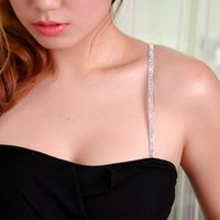 Wholesale Factory direct metal crystal rhinestone straps underwear bra strap with crystal double secret stealth belt