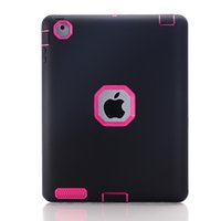 Wholesale 3 in TPU PC Hybrid Robot Case Shockprooft Armor Case for iPad2 iPadAIR2 MINI1