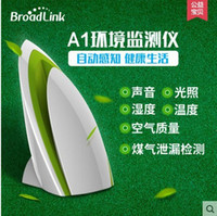 Wholesale Broadlink Air Detector A1 Iron shaped Air Purifier Mini Practical Broadlink Air Detector for Home Bedroom Living Room