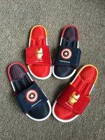 sandals - 2016 New fashion Summer hot Sandals Captain America Sandals Iron Man Sandals Superman Sandals Batman Sandals