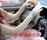 Wholesale Summer sun gloves ms drive anti ultraviolet cotton long electric car tee