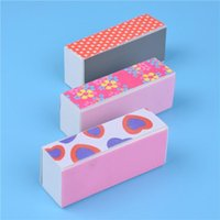 beautiful nail files - Beautiful Polishing block nail art buffer block color Colorful polish manicure pedicure Nail Files polish file Multicolor makeup tool
