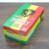 Cheap 32leaves booklet 50booklets 1box BOB Marley White Pure hemp Smoking Cigarette rolling paper 78 x 44MM hot slow burning smoking papers