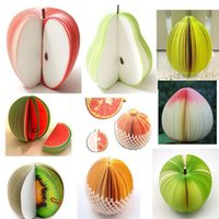 Wholesale New Fashion Notes Notepad Memo Sticky Fruits Shape Portable Scratch Paper Fine R571
