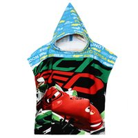 Wholesale Bath Towel_Kids Cartoon Pixar Car Printed Hooded Bathrode