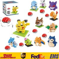 Wholesale New Poke Pikachu Building Blocks DIY Diamond Bricks Blocks Children Kids Baby Intelligence Educational Particles Toys Gifts Box Pack ZJ B08