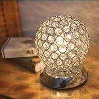 Wholesale Diameter mm Modern K9 Crystal Ball Reading Desk table lamps Bedside lamp for bedroom bar living room E27 V